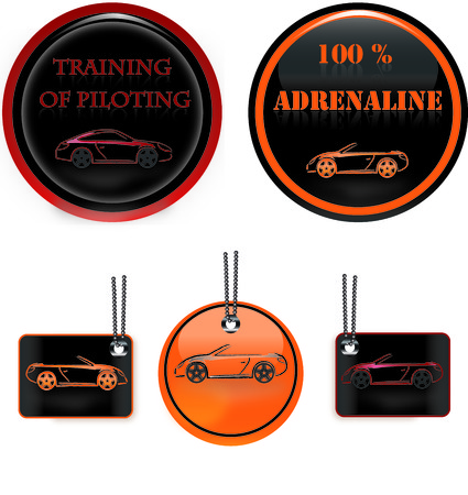 Label training and adrenaline Vector