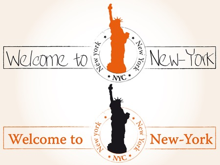 Welcome to New-York Vector
