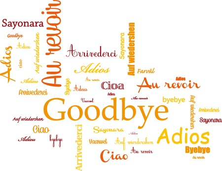 addio: Arrivederci