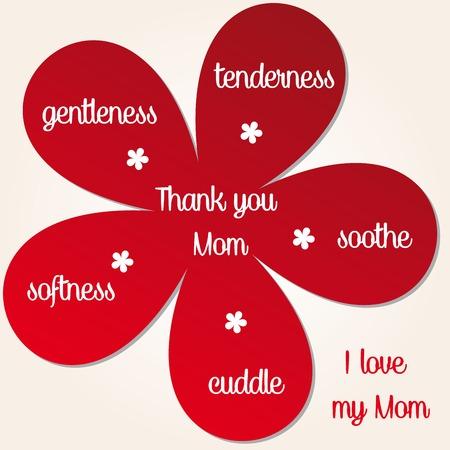 gentleness: Thank you Mom illustration