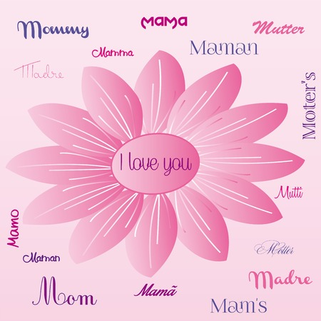upmarket: I Love you Mom illustration