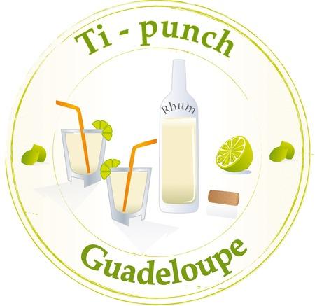 guadeloupe: Ti-Punch Guadeloupe Illustration
