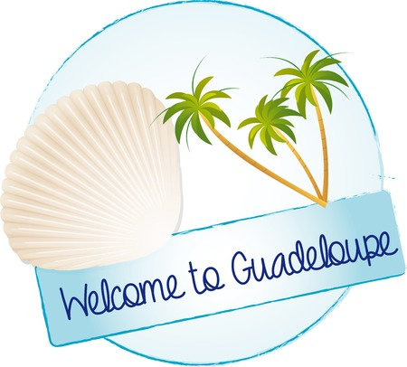guadeloupe: Welcome to Guadeloupe Illustration