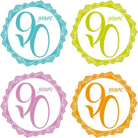 90 years: 90 anni Vettoriali