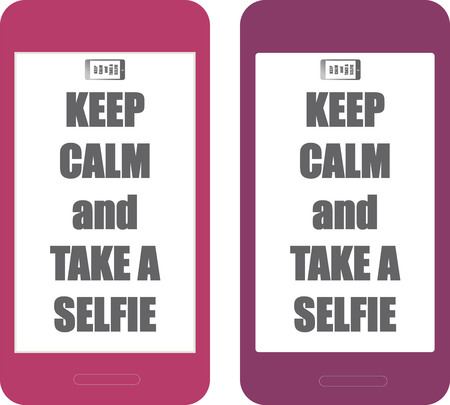 Background keep calm and take a selfie Vettoriali