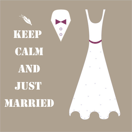 Background keep calm and just married
