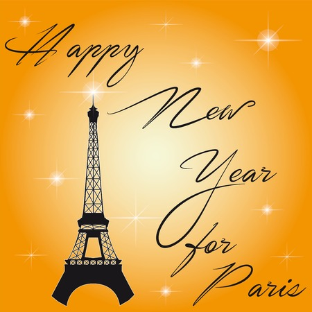 happy new year: Happy new year for Paris