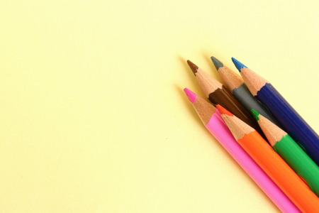 art school: Coloring Pencils Stock Photo