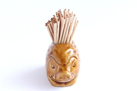 toothpick: Wooden Toothpick Stock Photo