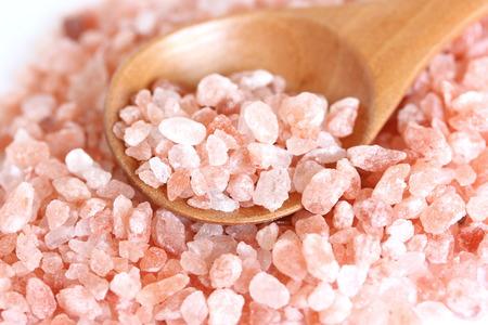 himalayan salt: Himalayan Crystal Salt Stock Photo