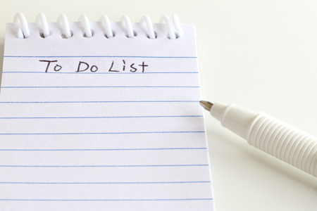 forgetful: To Do List Stock Photo