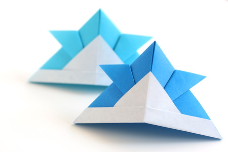 Origami Kabuto Stock Photo