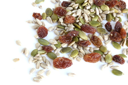 sultanas: Mixed Seeds and Sultanas Stock Photo