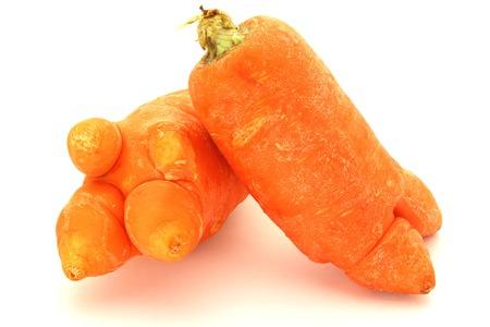 odd: Odd Looking Carrots Stock Photo