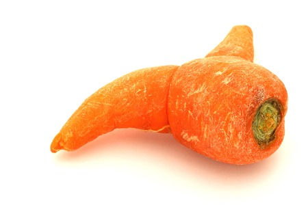 odd: Odd Looking Carrot Stock Photo