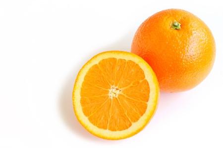 navel: Navel Orange on White Background