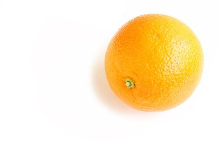 navel orange: Navel Orange on White Background