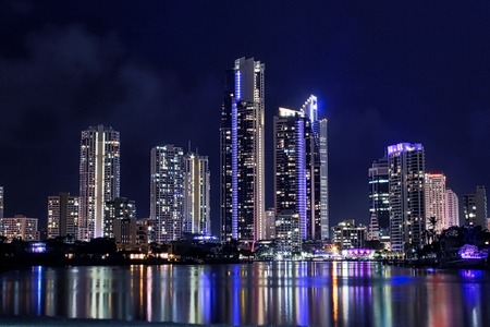 surfers paradise: Skyline at Surfers Paradise Stock Photo