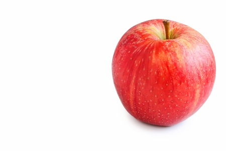 Fresh Organic Royal Gala Apple on White Background Stock Photo