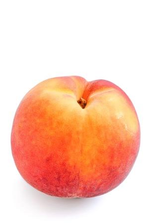 Fresh Organic Peach on White Background