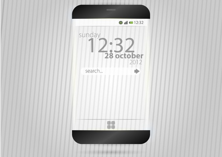 Futurisric mobile device with transparency effect  Vector