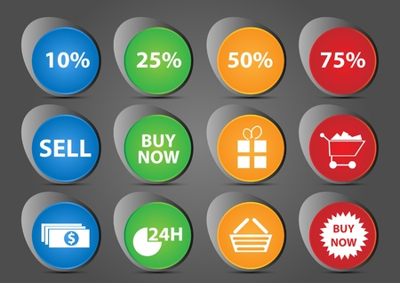 shop icon set Stock Vector - 12914651