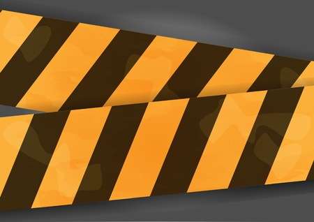 Black and yellow glossy barrier tapes isolated  Vector