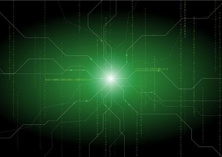integrer: Verts backgraounds abstraites Illustration