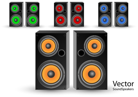 acoustic systems:  sound speakers Illustration