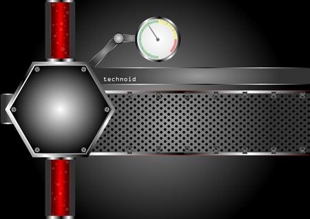 industrial danger: Resumen tecno fondo de pantalla Vectores