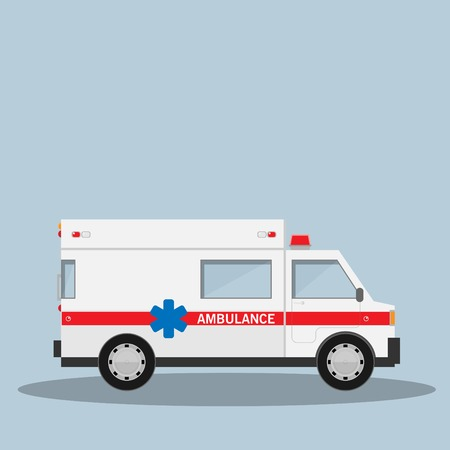 cross street with care: ambulance car vector illustration isolated