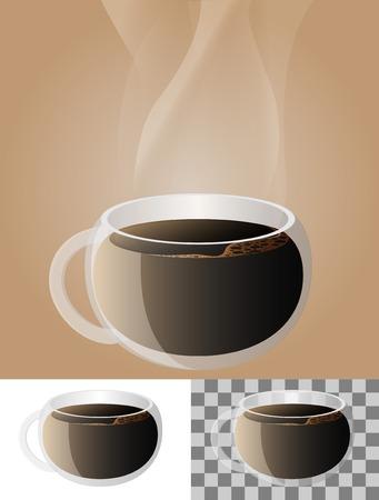 glass coffee transparent mug Vector