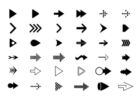 cobranza: flechas iconos (flechas set iconos)
