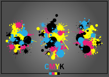 Abstract CMYK Ilustrace