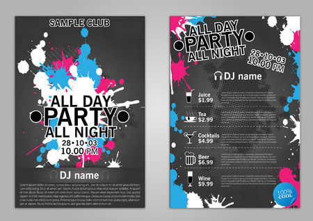club flyer: Vector Flyer Template - EPS10 Design