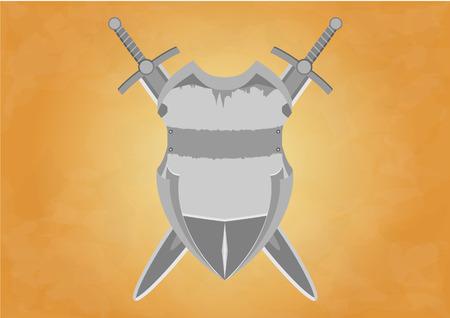 crossed swords: Vector ilustraci�n de la Junta y las espadas cruzadas