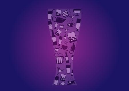 margerita: Drink alcohol beverage icons set over color background. vector illustration