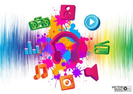 melodist: vector illustration of elegant musical background Illustration