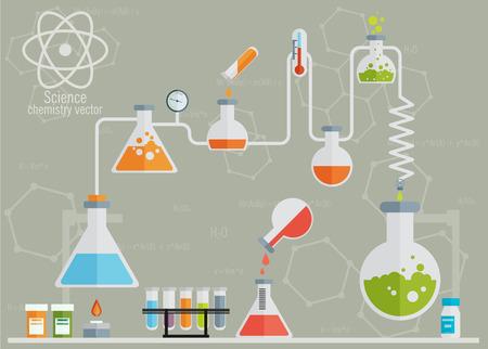 clinical lab: Infograf�a de laboratorio m�dicos Vectores