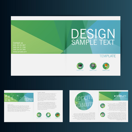 blank brochure: Brochure Flyer design vector template Illustration
