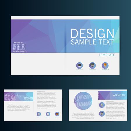 Brochure Flyer design vector template  イラスト・ベクター素材
