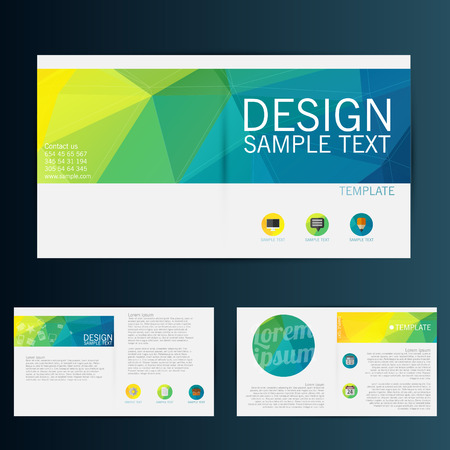 Brochure Flyer template vecteur de conception Banque d'images - 33501090