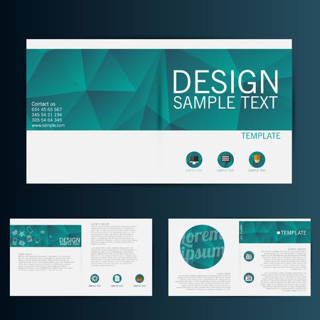 Brochure Flyer template vecteur de conception Banque d'images - 33501091