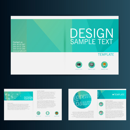 poster design: Brochure Flyer design vector template Illustration