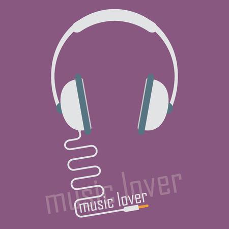 hi end: Audio headphone icon Illustration