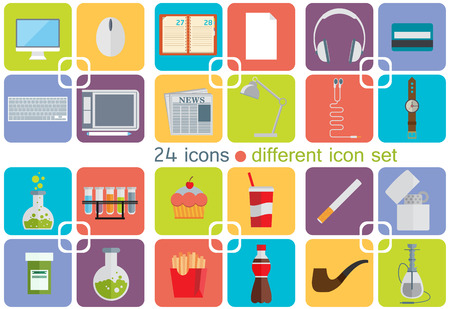 Different icon set Vector
