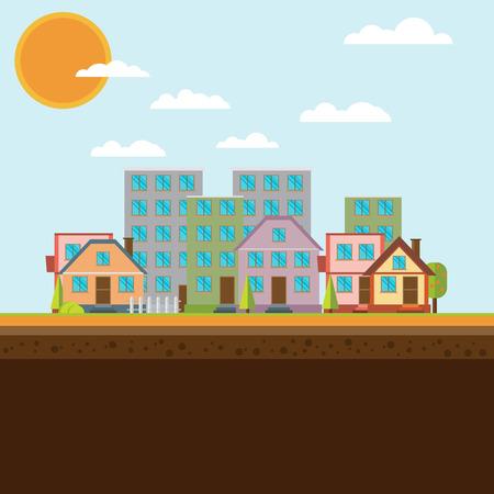 city background: City background Illustration