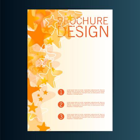 Brochure Flyer design vector template. Eps 10 Illusztráció