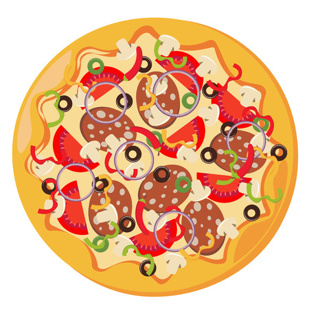 vector illustration of italian pizza Vector