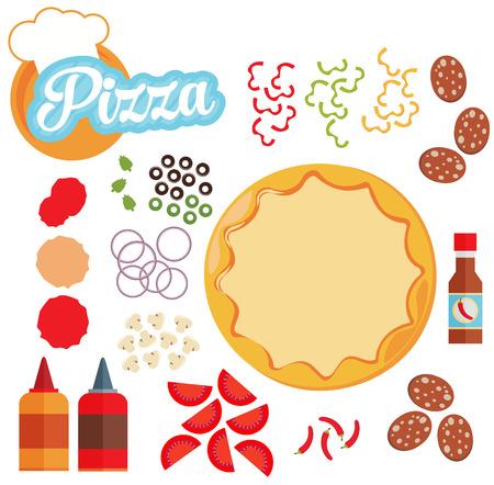 vector illustration of italian pizza